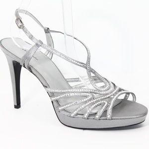 Rhinestone Heels sz 10 Papell Studio Stilettos